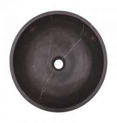 Pietra Grey Honed Round Basin Limestone 1638