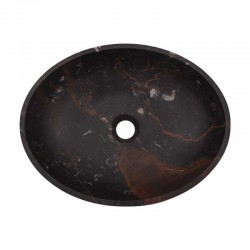 Black & Gold Honed Oval Basin Marble 2008