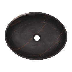 Black & Gold Honed Oval Basin Marble 2011