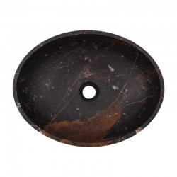 Black & Gold Honed Oval Basin Marble 2015