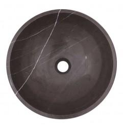 Pietra Grey Honed Round Basin Limestone 1704