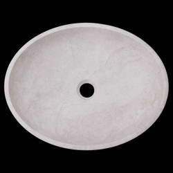 Bianca Perla Honed Oval Basin Limestone 1667