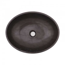 Pietra Grey Honed Oval Basin Limestone 1845