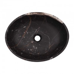Black & Gold Honed Oval Basin Marble 2020