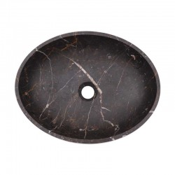 Black & Gold Honed Oval Basin Marble 2131