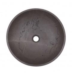 Pietra Grey Honed Round Basin Limestone 2139