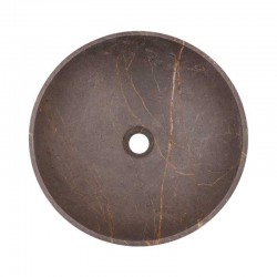 Grey & Gold Honed Round Basin Marble 2073