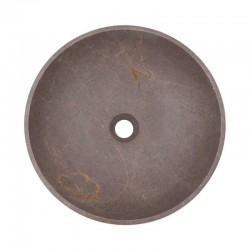 Grey & Gold Honed Round Basin Marble 2074