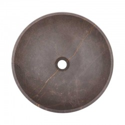 Grey & Gold Honed Round Basin Marble 2075