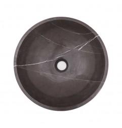 Pietra Grey Honed Round Basin Limestone 1703