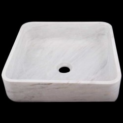 Bianca Luminous Honed Square Basin Marble 1717