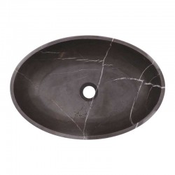 Pietra Grey Honed Oval Basin Limestone 1971