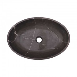 Pietra Grey Honed Oval Basin Limestone 1973