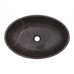 Pietra Grey Honed Oval Basin Limestone 1983