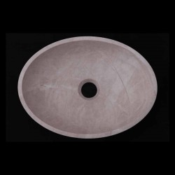 Bianca Perla Honed Oval Basin Limestone 1783