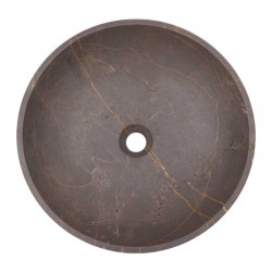 Grey & Gold Honed Round Basin Marble 2078