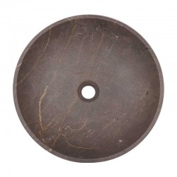 Grey & Gold Honed Round Basin Marble 2086