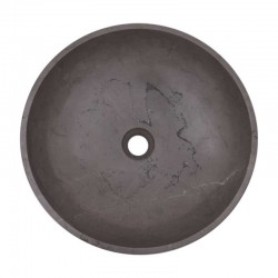 Pietra Grey Honed Round Basin Limestone 2126