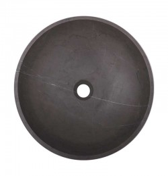 Pietra Grey Honed Round Basin Limestone 2127