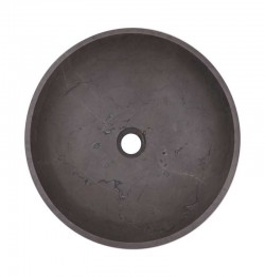 Pietra Grey Honed Round Basin Limestone 2128