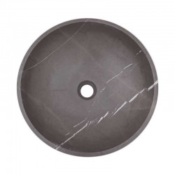 Pietra Grey Honed Round Basin Limestone 2129