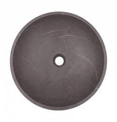 Pietra Grey Honed Round Basin Limestone 2130