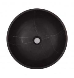 Pietra Grey Honed Round Basin Limestone 1911