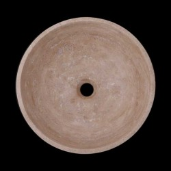 Classico Polished Round Basin Travertine 2046