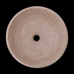 Classico Polished Round Basin Travertine 2048