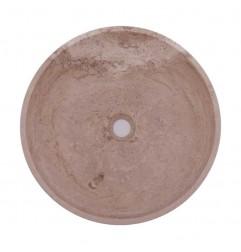 Classico Honed Round Basin Travertine 1760