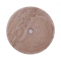 Classico Honed Round Basin Travertine 1761