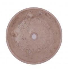 Classico Honed Round Basin Travertine 1762