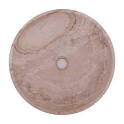 Classico Honed Round Basin Travertine 1764