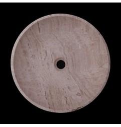Silk Honed Round Basin Travertine 1765