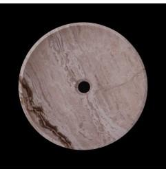 Silk Honed Round Basin Travertine 1768