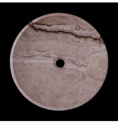 Silk Honed Round Basin Travertine 1769