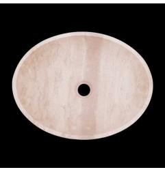 Classico Honed Oval Basin Travertine 1823