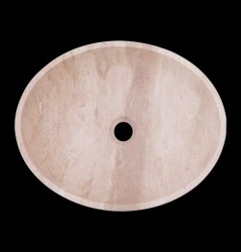 Classico Honed Oval Basin Travertine 1824