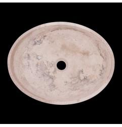Classico Honed Oval Basin Travertine 1836