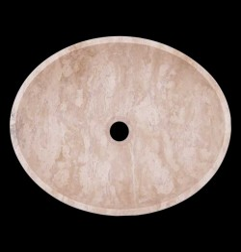 Classico Honed Oval Basin Travertine 1839