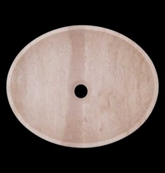 Classico Honed Oval Basin Travertine 1842