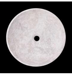 Bianca Perla Honed Round Basin Limestone 2092