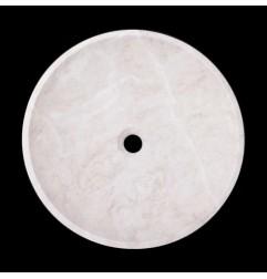 Bianca Perla Honed Round Basin Limestone 2111