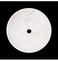 Bianca Perla Honed Round Basin Limestone 2115