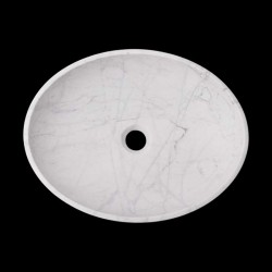 Persian White Honed Oval Basin Marble 2316