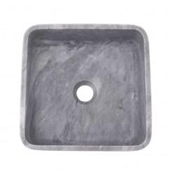 Crystal Grey Honed Square Basin Marble 2332