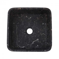 Black & Gold Honed Square Basin Marble 2398