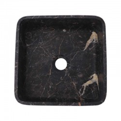 Black & Gold Honed Square Basin Marble 2400