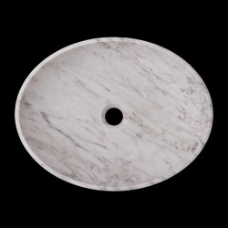 Persian White Honed Oval Basin Marble 2380