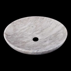 Persian White Honed Oval Basin Marble 2382